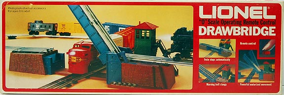 "Lionel 6-2317 ""O\"" Scale Operating Remote Control Drawbridge"