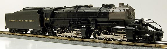MTH 30-1163-1 Norfolk & Western 2-8-8-2 Y6B Steam Locomotive and Tender with ProtoSound 2.0