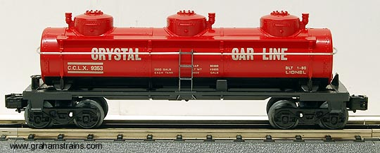 Lionel 6-9353 Crystal Car Line 3-Dome Tank Car