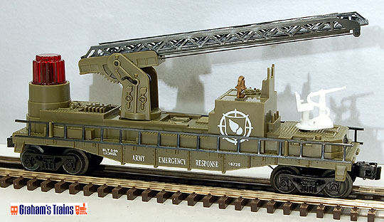 Lionel 6-16726 U.S. Army Operating Fire Ladder Car
