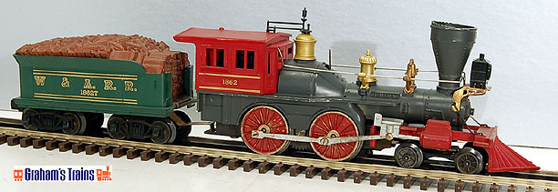 Lionel #1862 Civil War General 4-4-0 Steam Engine and Tender - Postwar