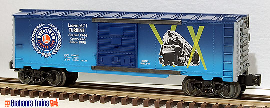 Lionel 6-29228 Century Club Boxcar #671 Pennsylvania Steam Turbine