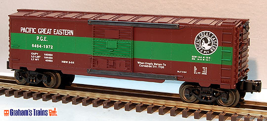 Lionel 6-52086 Pacific Great Eastern 6464 Boxcar TTOS
