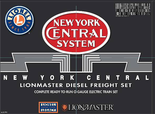 Lionel 6-31791 New York Central LionMaster Complete Ready-To-Run SD90 Diesel Freight Set Equipped with Legacy Command Control
