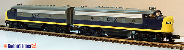 Williams F7-107 CSX F-7 Powered & Non-Powered Diesel Engines Set