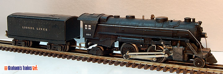 Here is a nice set of 1664 2-4-2 Steamer and 889T tender. Prewar era with