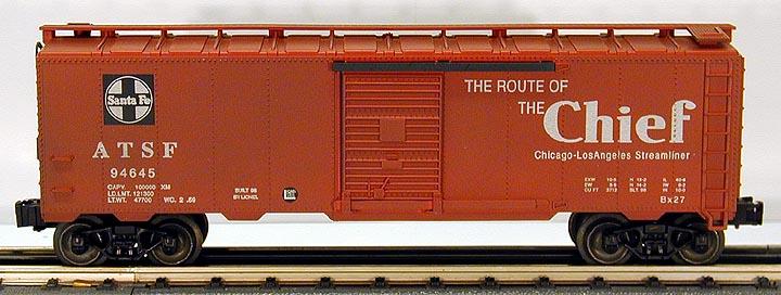 """Lionel 6-17244 Santa Fe Chief Boxcar Std. \""""O\"""" Scale"""