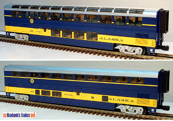 Lionel 6-29169 Alaska Superliner 2-Car Passenger Add On Set