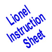 Lionel 1615 Steam Locomotive Instruction Sheet 2-Pgs.