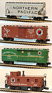 Lionel 6-11977 Northern Pacific 4-Pack Freight Car Set Std. O