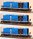 Lionel 6-11843 Boston & Maine GP-9 ABA Diesel Engine Lash-up with TMCC
