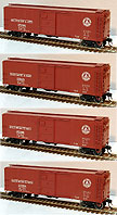 Atlas-O Baltimore & Ohio 40' Steel Re-Built Boxcar, Set of 4, 2-Rail