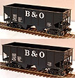 Atlas-O 9476 Baltimore & Ohio 55 Ton Coal Hopper, Set of 2, 2-Rail